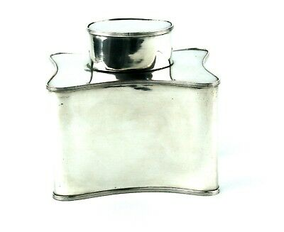 Antique Georgian Revival Silver Plated Tea Caddy SP on Copper