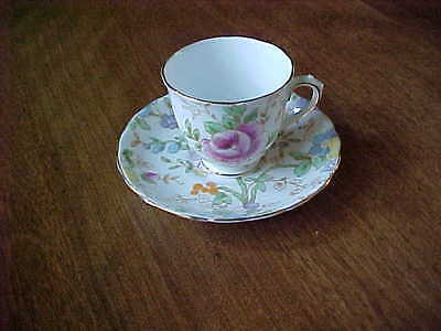 Vintage Tuscan Demi Tasse Cup And  Saucer Made In England Bone China