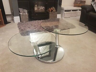 Signet Coffee Table Dfs Glass Topped Revolving T