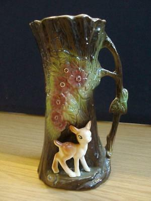 EASTGATE WITHERNSEA POTTERY FAUNA . 23cms. Jug.