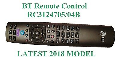 BT YouView Remote Control RC3124705/04B 2018 Model UK Seller