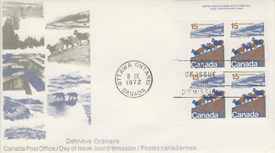 Canada #595 15¢ Landscape Definitive Ul Plate Block First Day Cover