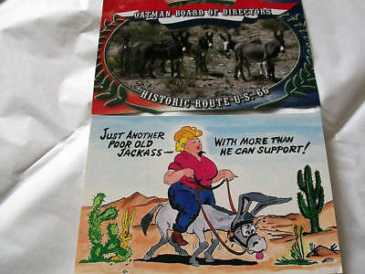 Vintage postcards lot of two unposted one Route 66 one funny