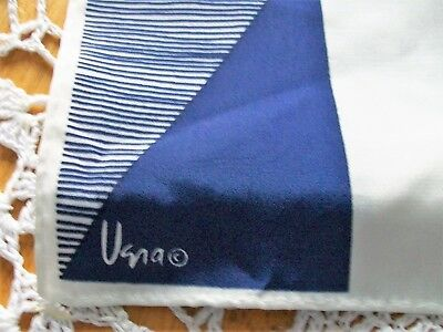 Vintage Vera scarf blue and white scarf made in Japan 46 x 11 inch scarf
