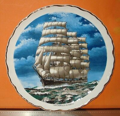 Vintage Plate 'ARCHIBALD RUSSELL' Ship - James Kent - OLD FOLEY - Staffordshire