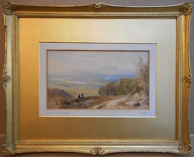Cornelius Pearson, listed artist. Watercolour. Wales from near Whitchurch 1879.
