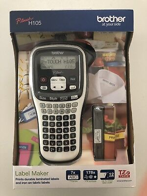 Brother Ptouch H105 Label Printer With 4mm Starter Tape Brand New