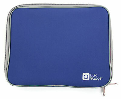 """Blue Neoprene Case With Dual Zips For UEME 9"""" Portable DVD Player"""