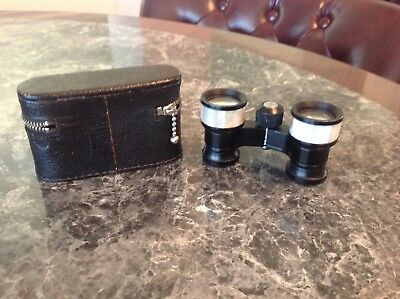 Vintage Shrine Manor 3 X Coated Opera Binoculars  W/Mother Of Pearl Inlay Japan