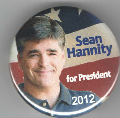 SEAN HANNITY for PRESIDENT 2012 pin pinback button