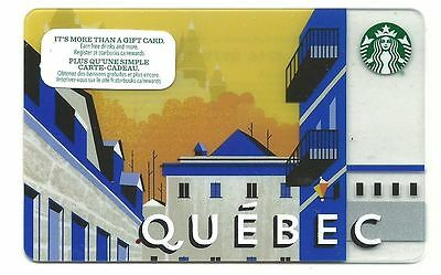 STARBUCKS QUEBEC CANADA 2015 ---0--- VALUE RECHARGEABLE Gift Card MINT !!!!!!!