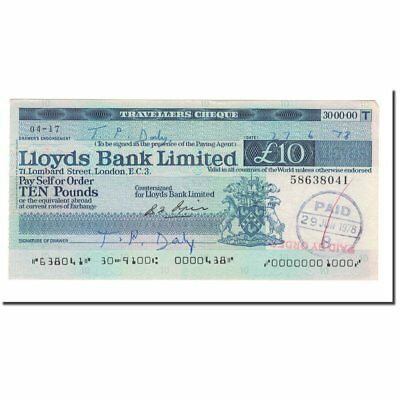 [#564987] Banknote, Great Britain, LLOYDS BANK, 10 Pounds, 1978, 1978-06-29
