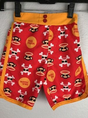 BOYS SIZE 2T MARVEL RED ULTIMATE SPIDERMAN SWIMSUIT TRUNKS NWT NEW 44ff