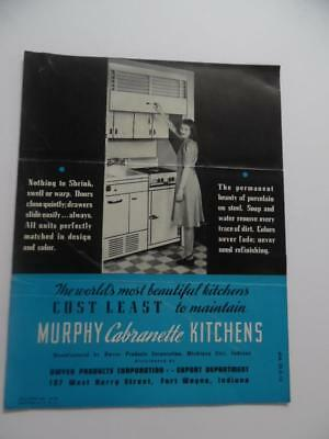 1939 Murphy Cabranette Apartment Kitchen Unit Architectural Catalog Vintage ORIG