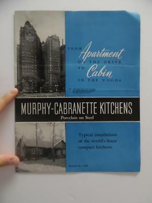 c.1940s Murphy Cabranette Apartment Kitchen Unit Architectural Catalog Vintage