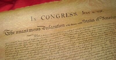 Replica Document DECLARATION OF INDEPENDENCE - ships rolled in protective tube