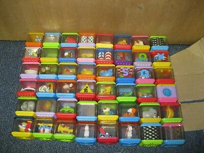 Lot of 48 Fisher Price *Peek-a Boo* Blocks Activity
