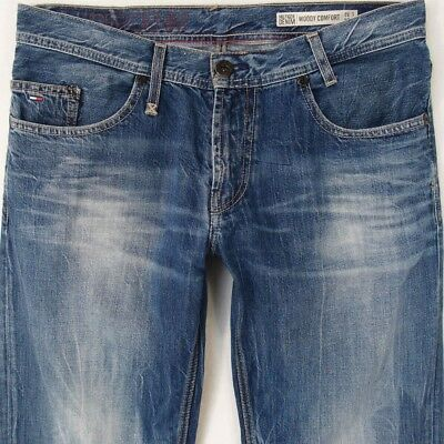 5824e0319e1 Mens Tommy Hilfiger WOODY COMFORT Straight Blue Jeans W34 L30