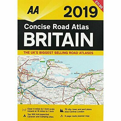 Concise Atlas Britain 2019 by Aa Book The Cheap Fast Free Post