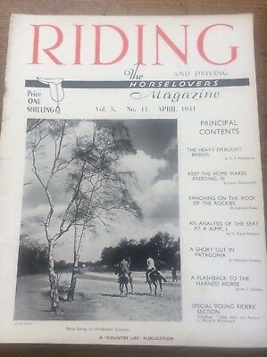 Riding & Driving The Horse Lovers Magazine Apri 1941 Heavy Draught Breeds