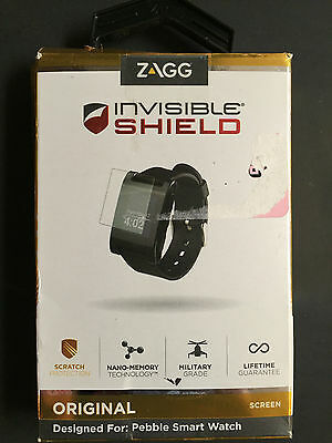 ZAGG Invisible Shield Original Screen for Pebble Smart Watch NIP