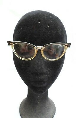 Original Vintage retro 1950s 1960s cats eye spectacles glasses frames (vv23)
