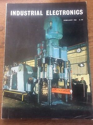 Vintage Magazine Industrial Electronics Feb 1965 Land Vihicle Navigation systems