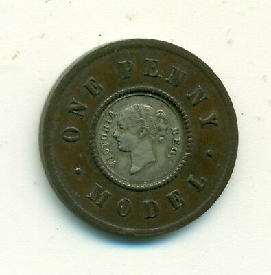 Great Britain Silver Center Penny Model Pattern Issued as Advert for New Design