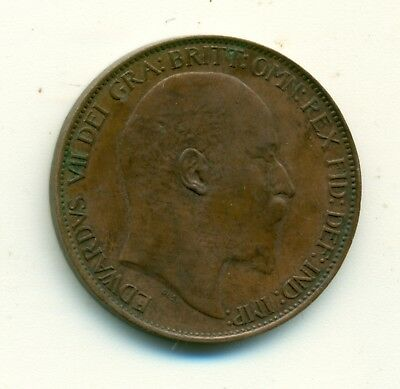 Great Britain Memorial Token on 1906 1/2 cent 7th May T. EGBY