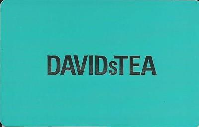 DAVID s TEA MINT GIFT CARD FROM CANADA BILINGUAL NO CASH VALUE rechargeable
