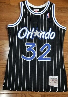 Authentic mitchell and ness old school shaquille o'neal swingman jerdey
