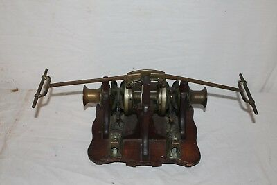 Rare Antique 1800's Salesman Sample Ships Anchor Hand Winch Patent Model~Works