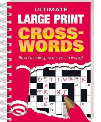Ultimate Large Print Crosswords: Red Cover Paperback Book The Cheap Fast Free