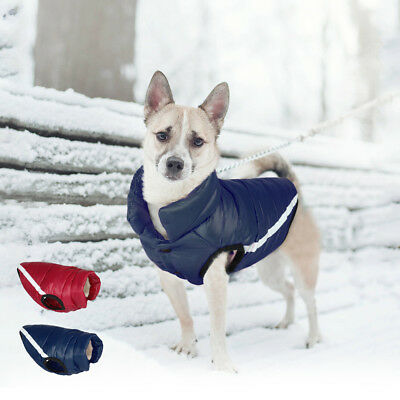 Thick Cotton Padded Warm Dog Clothes Waterproof Winter Pet Dog Coat Jacket Vest