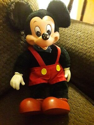 Vintage Plush Mickey Mouse Character Doll