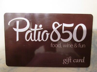 $25.00 GIFT CARD PATIO 850 Food Wine Dining Restaurant Certificate Eat Travel FL