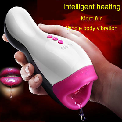 NEW Toy for Men Intelligent Heating Realistic Oral Sex Masturbator Cup !!!