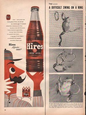 1953 Hires PRINT AD Rootbeer Real Old time Fun Old Soda Pop & Frog Story
