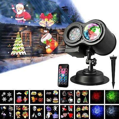 Led Projector Lights, Wave Projector Light with 12 Slides Pattern 2 in 1 Party