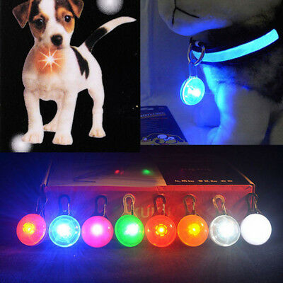 Pet Dog Cat LED Light Flashing Glowing in The Dark Pendant Buckle Clips Lamp 1PC