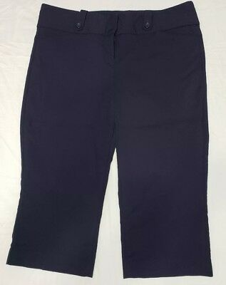 The Limited Exact Stretch Womens Pants Size 14 Navy Blue Capri Cropped