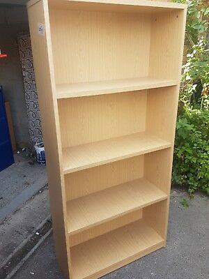 Large office bookcases 3 shelves in a Oak effect 1720mm high