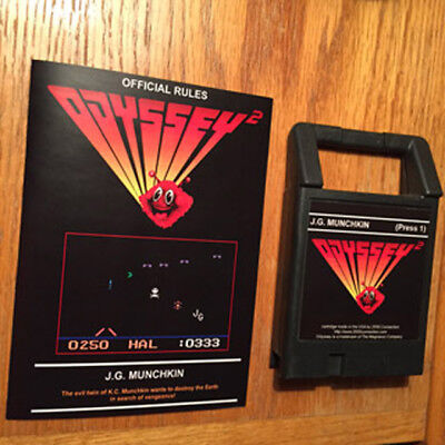 ODYSSEY 2 VIDEOPAC K.C. KC Munchkin Manual Video Game System ...