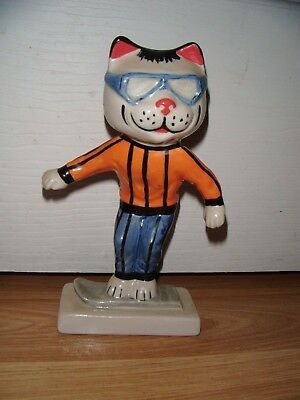 Lorna Bailey Cat From The Winter Olympics Range ~ Snowboarder ~ Excellent