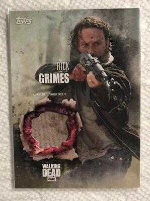 Topps The Walking Dead Rick Grimes Shirt Relic From Season 5