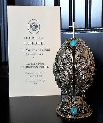 RARE House of Faberge 1994 Nativity Egg 'Virgin and Child' Limited Edition 1/7 !