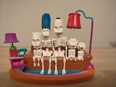 The Simpsons COUCH SKELETON Hamilton Figurine Couch Gags Collection HOMER Marge