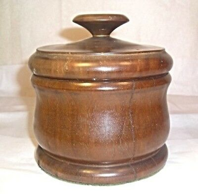 An Antique Turned Wood Tea or Tobacco Box M11