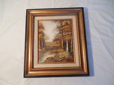 Cabin in the woods Fredrick oil painting framed