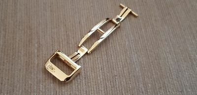 18mm HQ 316L S/S Yellow Gold Plated Deployment Buckle-Clasp Jaeger Le Coultre